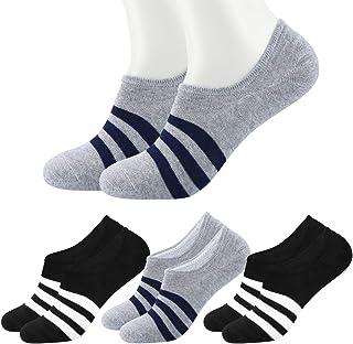 4 Pares Calcetines de Tobilleros para Hombre Mujer, Antideslizante Invisibles Calcetines de Bajos Cortos