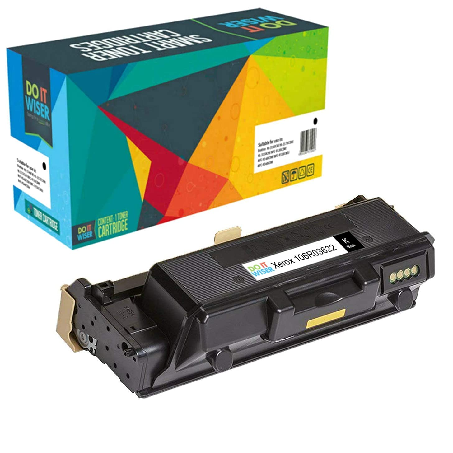 Do it Wiser Compatible Toner Cartridge Replacement for Xerox 106R03622 WorkCentre 3335 3345 Phaser 3330 Toner - 106R03621-8,500 Pages