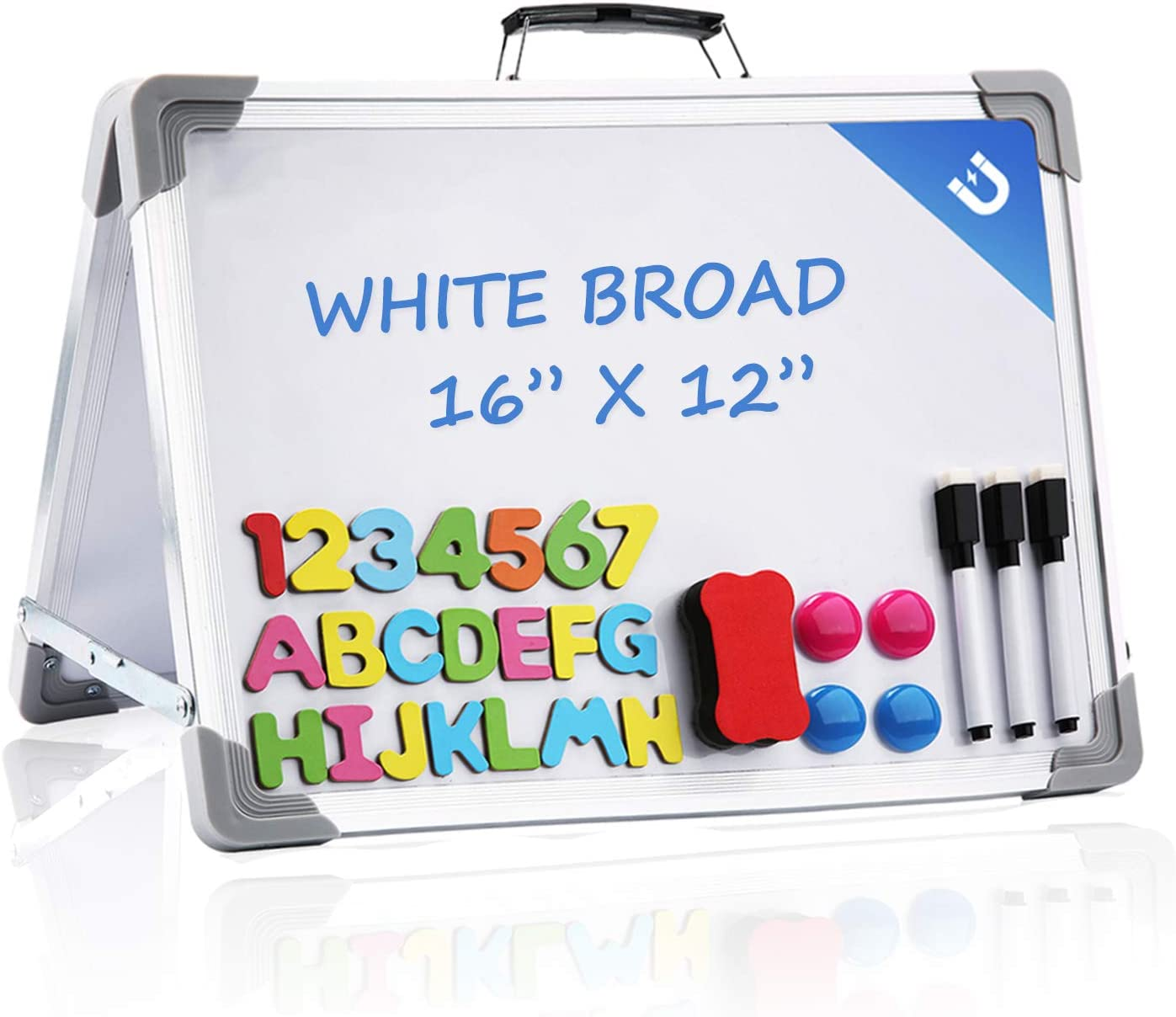 Small Dry Daily bargain sale Erase White Board 16x12 P Inches gift Sided Foldable Double