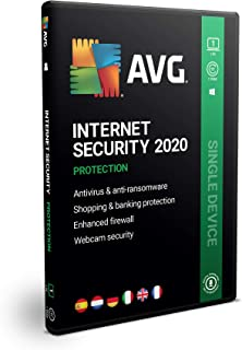 AVG Internet Security 2020 | 1 PC | 1 Año | En Caja