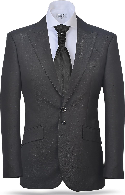 Men's Classic Blazer Shiny Dark Grey