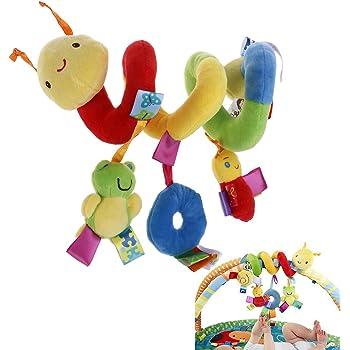Ideapark Jouets Suspendus en Spirale Animale B/éb/é Ornement Educatifs en Peluche Hanging Jouets Cadeaux Lit Berceau Poussette Jouet Chenille