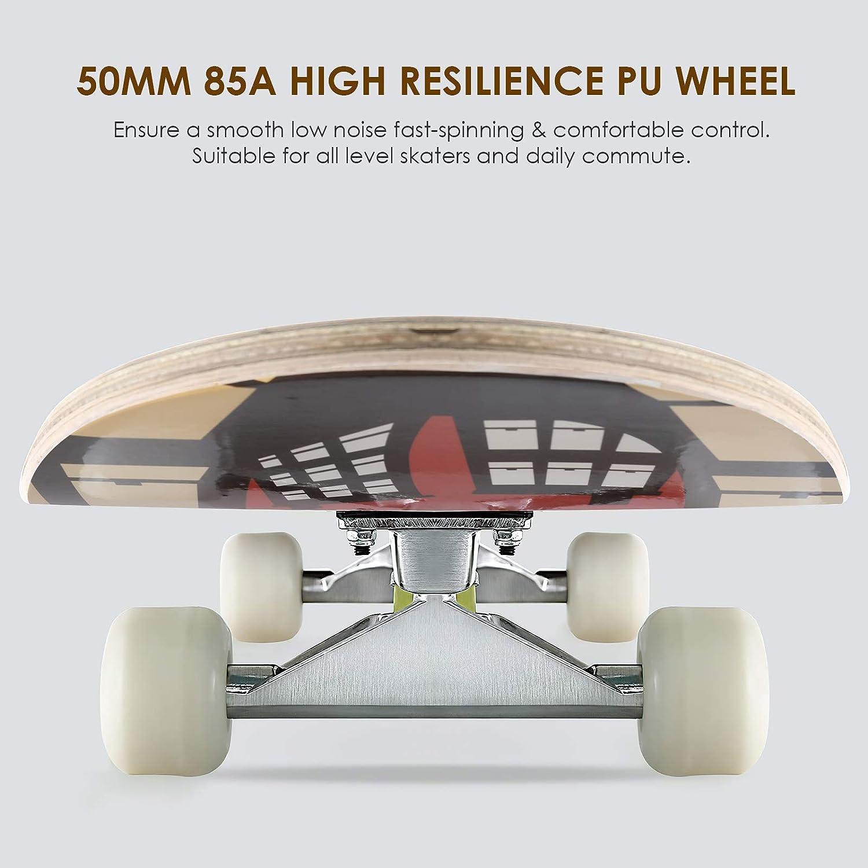 Cruiser Skateboard streakboard Skateboard Komplettboard mit ABEC-7 Kugellager Mini Skateboard f/ür Kinder Jugendliche Erwachsene Skateboard Jugendliche