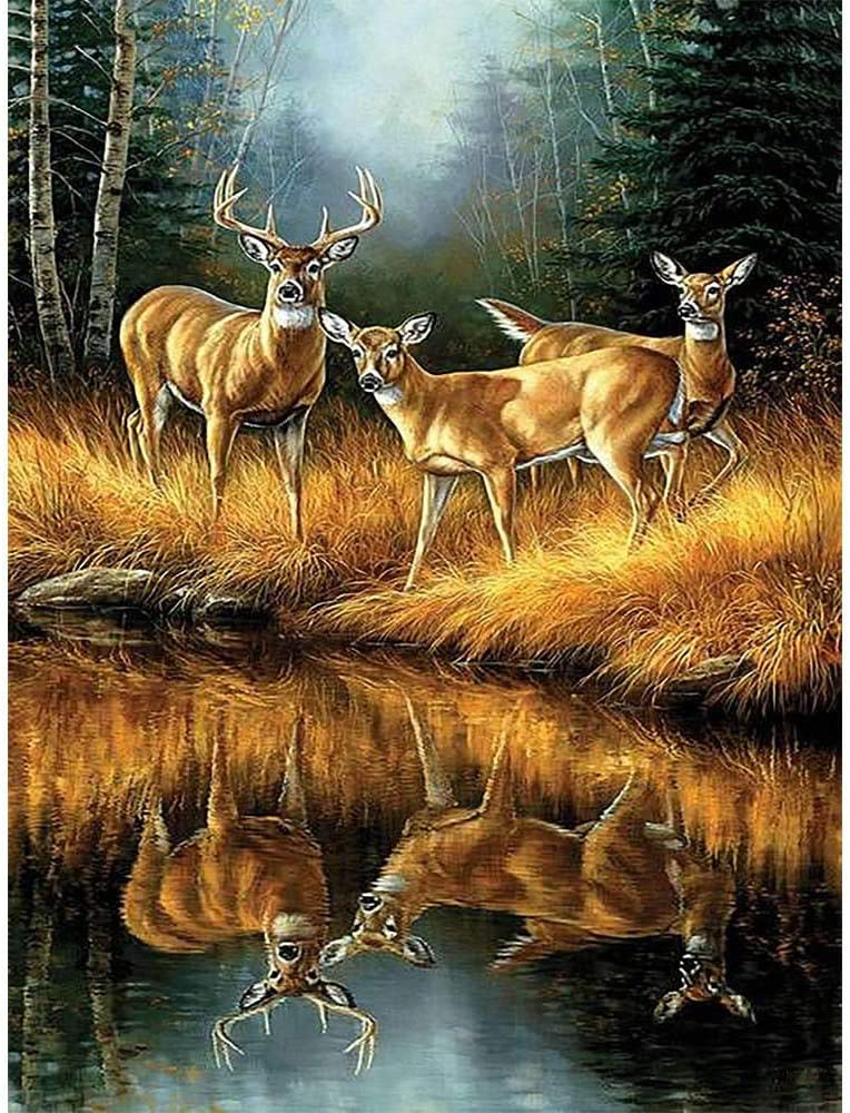 Counted Cross Stitch Kits Deer Painting Embroidery Pic Tampa Mall Paintings Challenge the lowest price