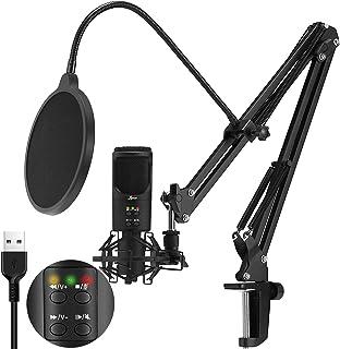 Lamoe Studio Condenser USB Microphone Podcast Condenser...