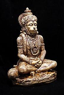 Amazing India Synthetic God Hanuman Idol, 6 Inch, White
