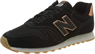 New Balance 373 Womens Black/Rose Gold Trainers