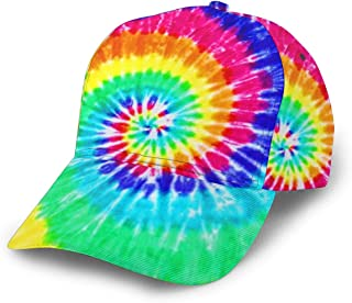 Adjustable Colorful Tie Dye Baseball Cap with Fashion Print Pattern Hip Hop Hat