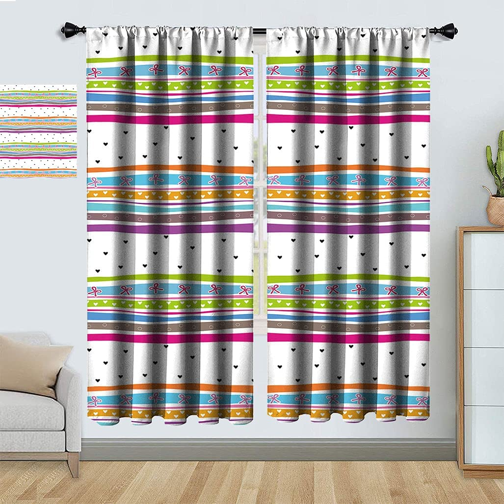 Abstract Decorative Bombing new work Curtains Wavy Polkadots Bow It is very popular Ribbons Stripes