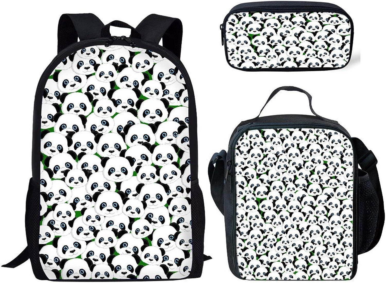 Farbeanimal Schulrucksack Mehrfarbig Panda Backpacklunch Bagpencil Case-1 L B07F8GYF6C   Economy