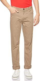 Giordano mens 01118024 Stretchy Mid Rise Regular Tapered Khakis