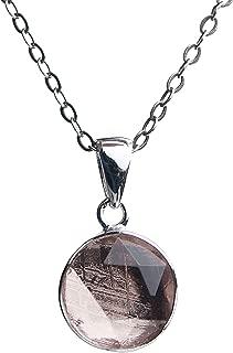 Genuine Natural Gibeon Meteorite Rose Gold Plated Star of David Pendant 12mm