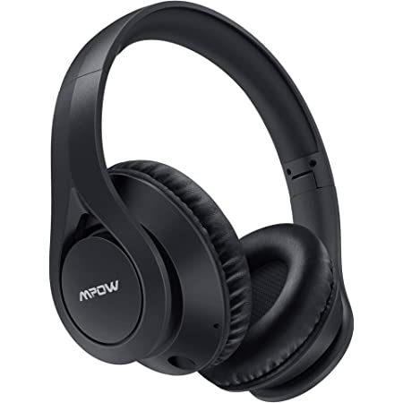 Mpow 059 Lite Bluetooth Headphones, 60 Hours Playtime Wireless Headphones Over Ear with Microphone, Bluetooth 5.0, HiFi Stereo Sound, Protein Earpads, Wired Wireless Headset for Kids, Adults, TV