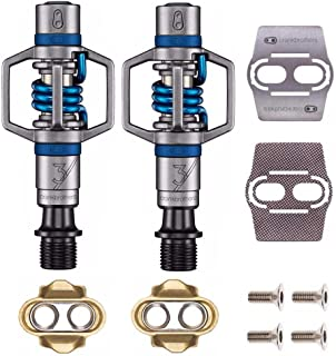Crankbrothers Eggbeater 3 Pedals (Black) with Premium Cleats and Bike Shoe Shields Set