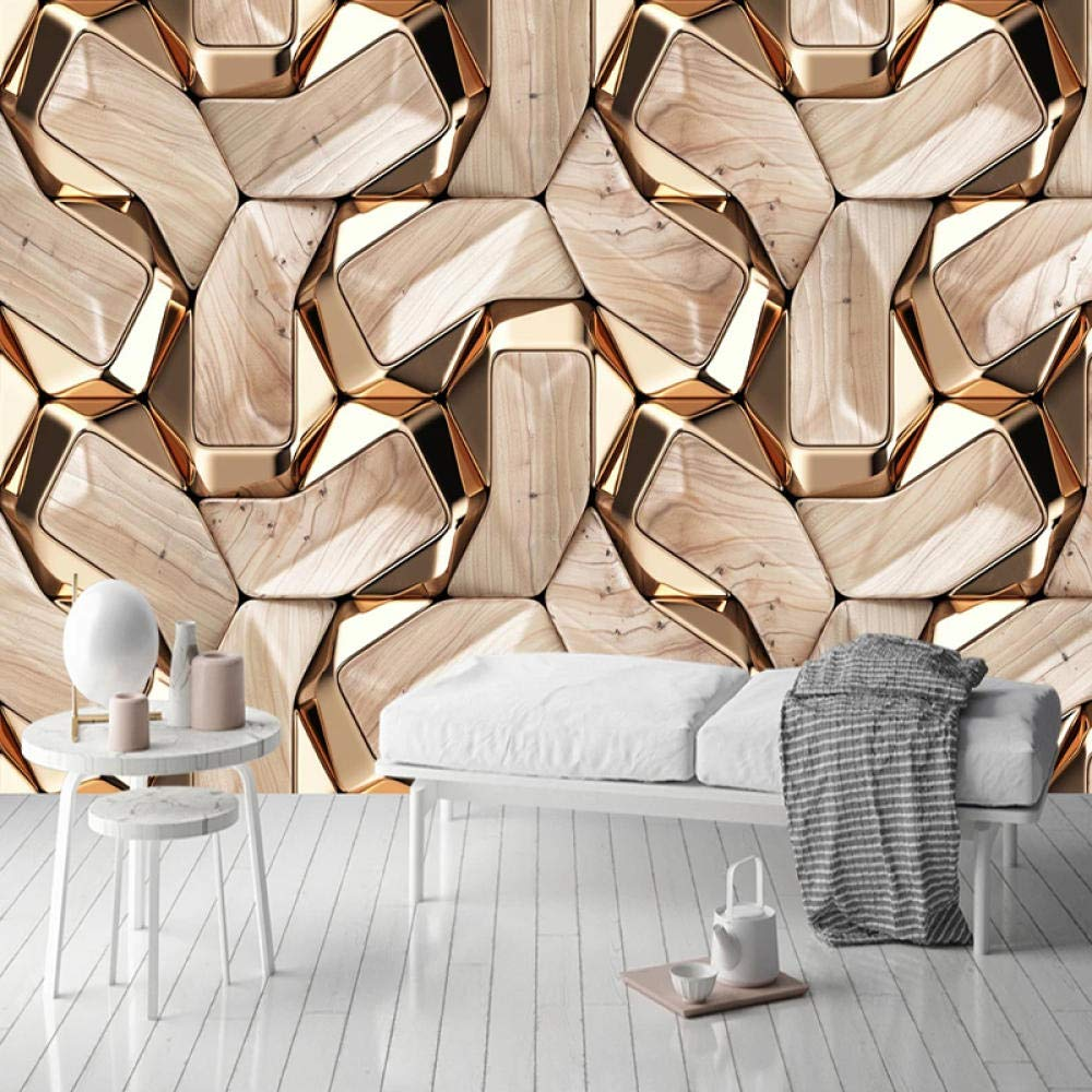 Awttmua Sale Free shipping on posting reviews item Photo Wallpaper European Style L Geometric Murals Golden
