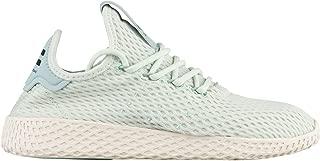 adidas Grade-School Pharrell Williams Tennis Hu J Linen Green/White Sneakers 7