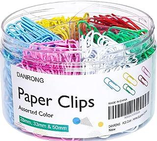 گیره های کاغذی رنگی DANRONG اندازه های مختلف ، کوچک و متوسط (1.1 اینچ ، 1.3 اینچ)
