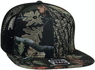 Camouflage Flat Bill Snap Back Trucker Style Cap Hat Camo