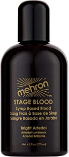 Mehron Makeup Stage Blood (4.5 Ounce) (Bright Arterial)
