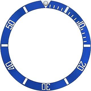 BEZEL INSERT OMEGA SEAMASTER WATCH SILVER FONTS BLUE 36.4MM X 30.75MM