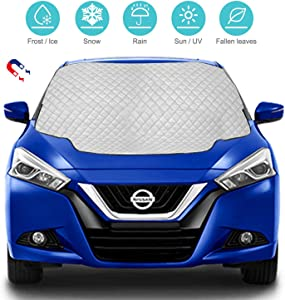 Car Windscreen Cover  Magnetic Snow Cover with Hidden Magnets  Snow Ice Protection Car Windshield Cover  Frost Guard Pefect Fit for Cars All Weather  147cm 118cm