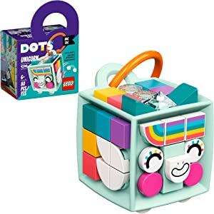 LEGO DOTS Bag Tag Unicorn 41940 DIY Craft Kit; A Creative Activity That Inspires Independent Play with Unique Toys; New 2021 (80 Pieces)