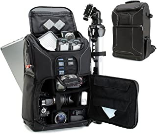 Professional Camera Backpack DSLR Photo Bag with Comfort Strap Design , Laptop , Tripod Holder , Lens and Accessory Storage for Canon EOS Rebel T5 , T5i , T6i and More Full-Sized Digital SLR Cameras