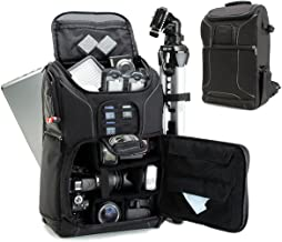 USA GEAR DSLR Camera Backpack Case (Black) – 15.6 inch Laptop Compartment, Padded..
