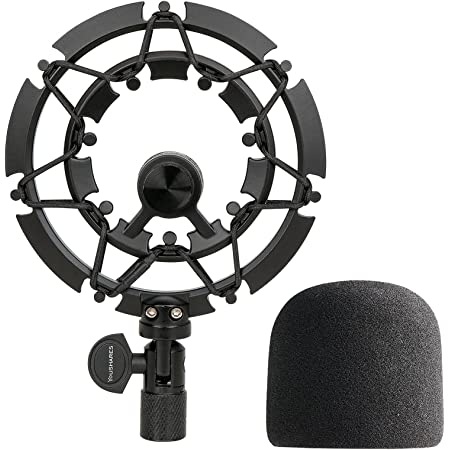 YOUSHARES Blue Yeti Shock Mount with Foam Windscreen, Alloy Shockmount Reduces Vibration With Blue Yeti Pop Filter, Compatible for Blue Yeti and Yeti Pro Microphone