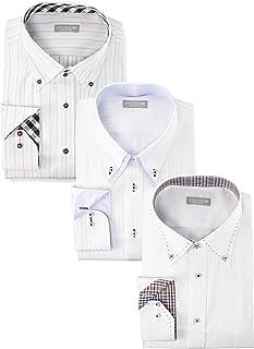 [ドレスコード101] 形態安定 ワイシャツ シーンで選べる6パターン 長袖3枚セット 豊富なサイズでピッタリがみつかる SHIRT-Z3SET メンズ