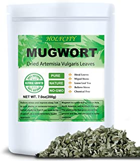 Dried Mugwort Leaves, 7.0oz(200g), Mugwort Leaf, Natural Artemisia Vulgaris Herb Loose Herb Leaves