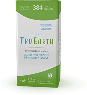 Tru Earth Hypoallergenic, Eco-friendly & Biodegradable Plastic-Free Laundry Detergent Sheets/Eco-Strips for Sensitive Skin...
