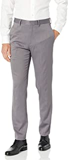 Kenneth Cole REACTION Men's Stretch Urban Heather Slim Fit Flat Front Dress Pant