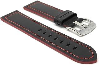 18mm - 24mm, Correa reloj de cuero auténtico, hebilla de ac