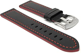 20mm - 22mm Universal Smartwatch Band Strap, Leather, Racer