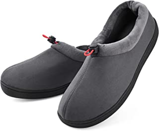 Men's Slippers House Shoes Breathable Comfy Memory Foam Moccasin Slip on Clogs Micro Suede Indoor Outdoor Footwear w/Anti-Skid Sole