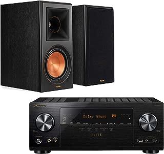 Pioneer Elite VSXLX303 9.2 Channel AV Netwrok Receiver Home Theater Starter Pack Bundle wtih Klipsch RP-600M Reference Premiere Bookshelf Speakers - (Pair) Ebony Vinyl