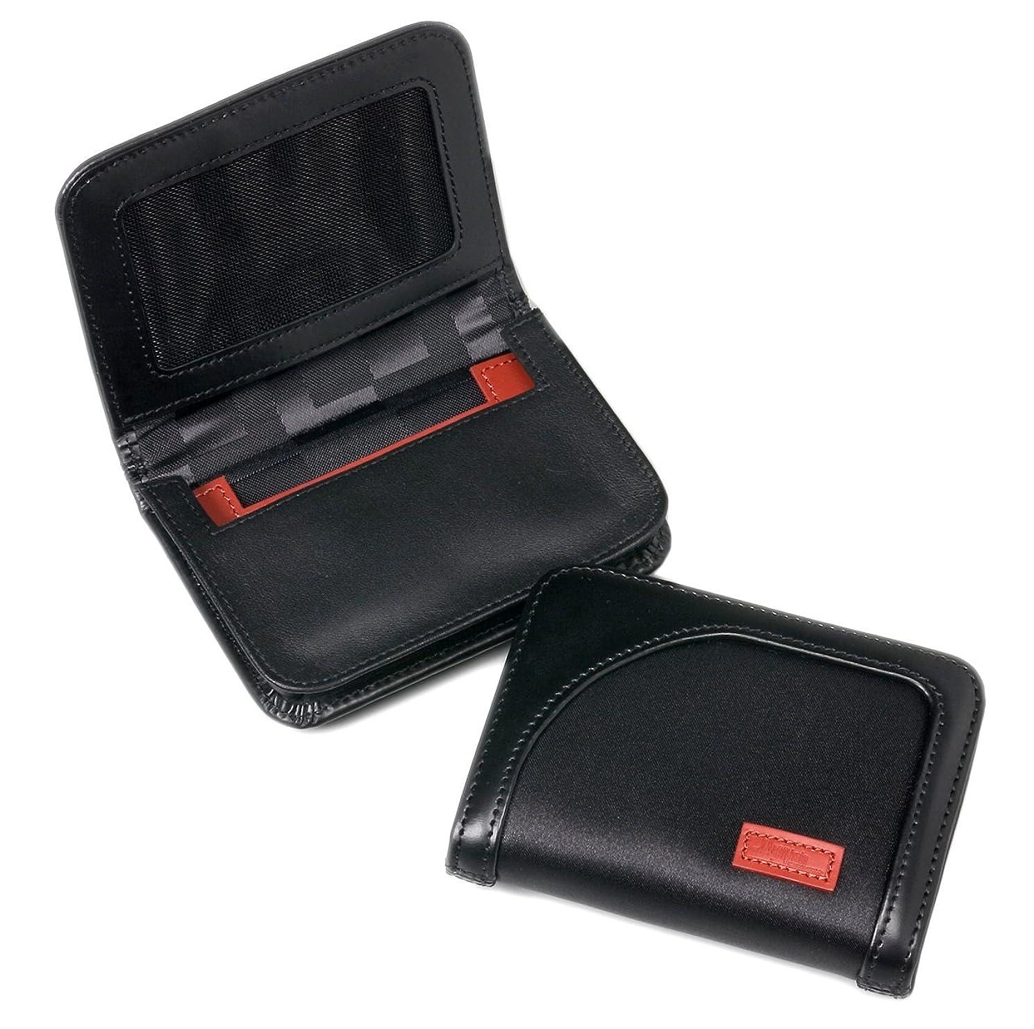 平均言うまでもなくコンプライアンス【アーロン?アーヴィン】 名刺入れ ナイロン Card Case with Gusset AA-MCCG-BK(ブラック)