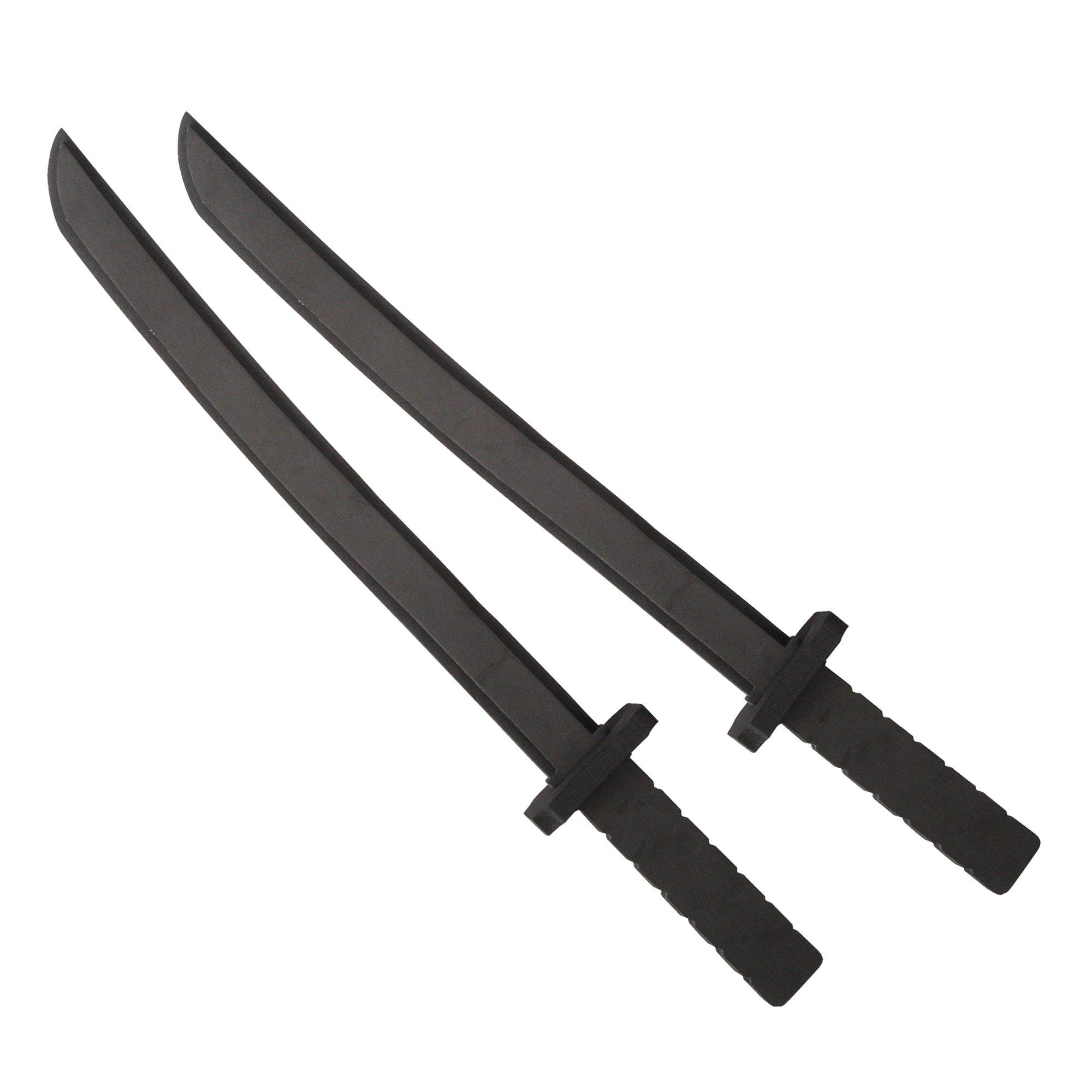 Katara 1771 - Juego de 2 Espadas de Espuma Gomaespuma Ninja 55cm de Largo, Negro: Amazon.es: Juguetes y juegos