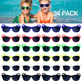 Kids Sunglasses Party Favors, 24Pack Neon Sunglasses for...