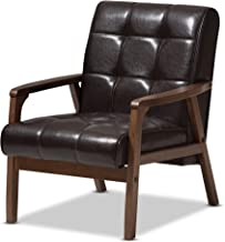 Baxton Studio Mid-Century Masterpieces Club Chair, Brown