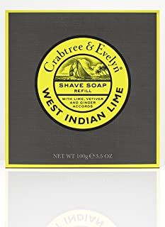 Crabtree & Evelyn Shave Soap Refill, West Indian Lime, 100 g