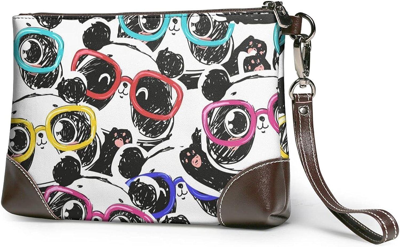 Puppies Pug Dog Ladies Leather-Handbag Sale Manufacturer direct delivery Real Cowhide Wrist Design
