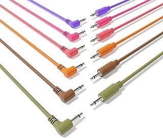 """ExcelValley - 6B-Pack Cables de Conexión Mono Modulares Híbridos TS 3,5mm 1/8""""Eurorack Sintetizador Sintetizador [180cm 71""""]"""