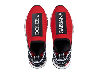Dolce & Gabbana Kids Snk Slip-On Maglina T.S+Elas.S (Little Kid) (Rosso/Nero) Kid