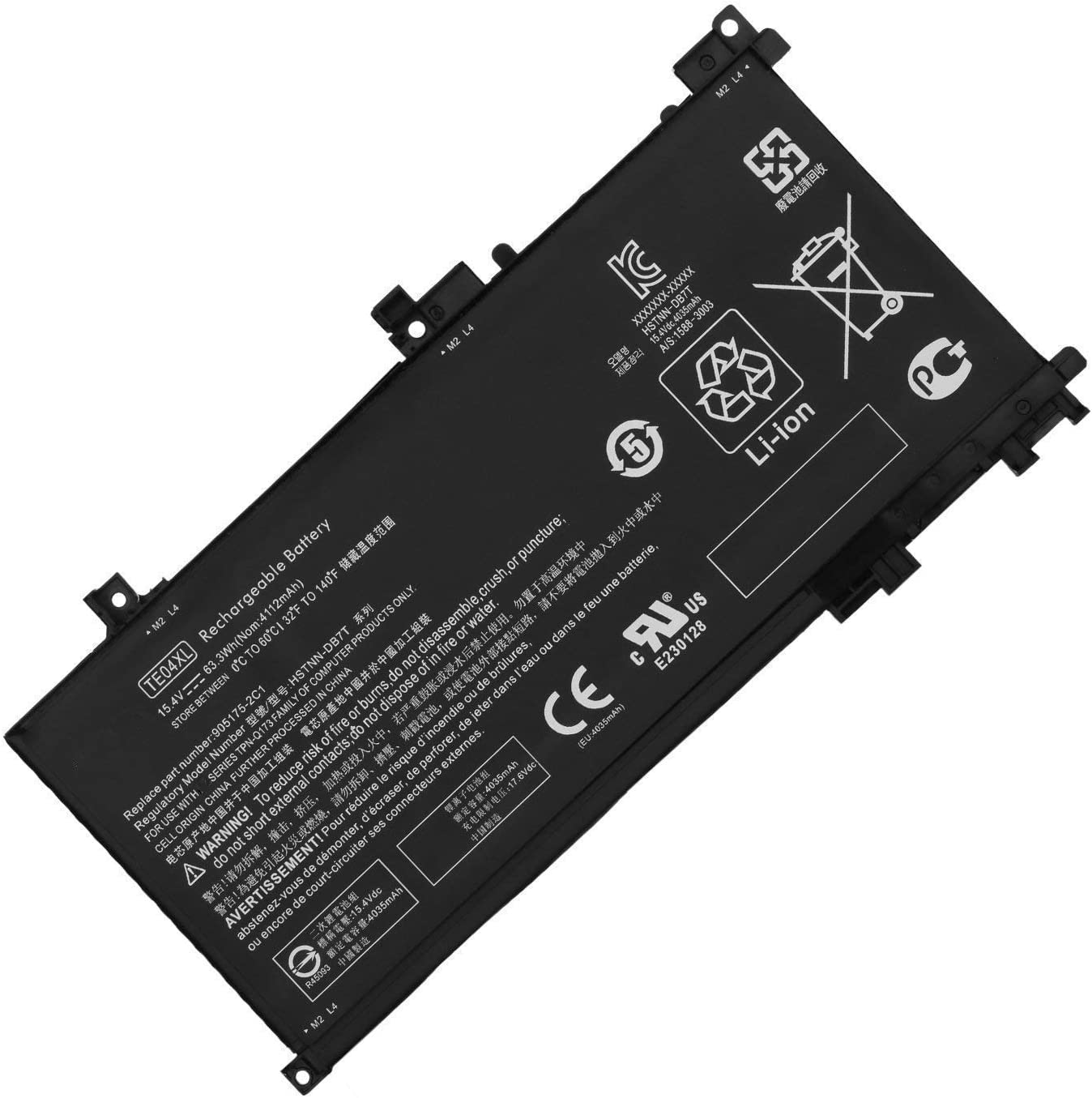 TE04XL Laptop Battery Limited price sale Replacement Over item handling ☆ for 15-AX250 15-AX200 Owmen HP