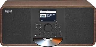 IMPERIAL DABMAN i205 CD Internetradio/DAB+ (Stereo Sound, UKW, CD Player, WLAN, LAN, Bluetooth, Streamingdienste (Spotify, Napster UVM.) inkl Netzteil) braun