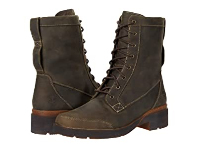 Timberland Gracelyn Waterproof Mid Lace Side-Zip Boot (Olive Full Grain) Women