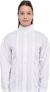 Cotton Lane Klassieke Witte Katoenen Victoriaans/Edwardian Blouse.