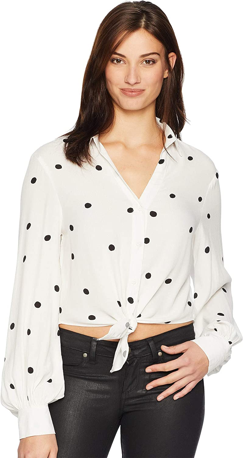 American pink Women's April Polka Dot Top White Black Medium